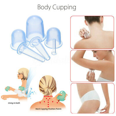 Set of 6 Chinese Silicone Medical Vacuum Cupping Body Massage Anti Cellulite Cup