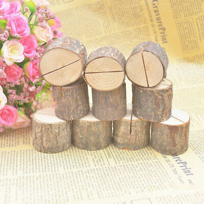 10Pcs Wooden Table Number Stand Place Name Memo Card Holder Wedding Party Decor
