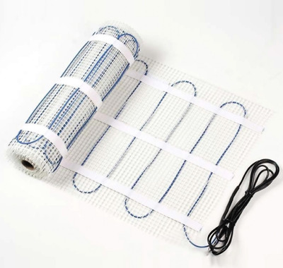 Electric Underfloor Heating MAT ONLY 200w/m² Sizes 1m² to 12m²