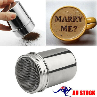 Stainless Steel Chocolate Cocoa Flour Shaker Icing Sugar Powder Coffee Duster A5