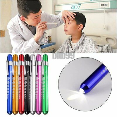 Medical Surgical Penlight Pen Light Flashlight Torch With Scale First Aid A^R5