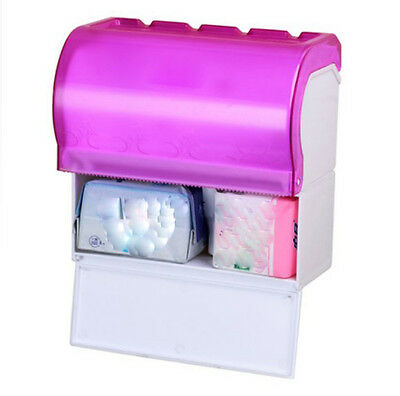Pink H22CM Wall Mounted Bathroom Waterproof Toilet Roll Paper Tissue Box Holder