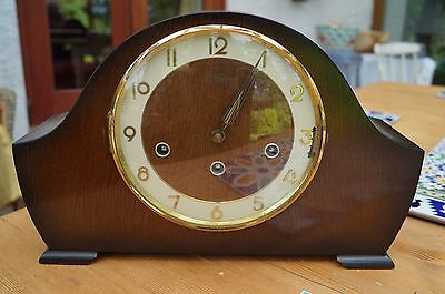 Hermle  triple chime mantel clock.Westminster,Whitt and St Michael See Video