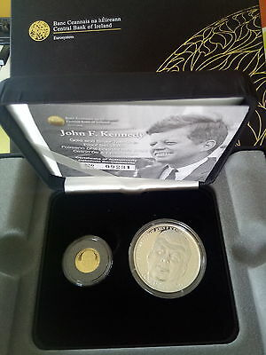 2013 €20 Gold Proof and €10 Silver Proof Coin Set  President John F. Kennedy