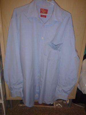 Mens Genuine R.m. Williams Blue Long Sleeved Shirt Size L   Regular Fit