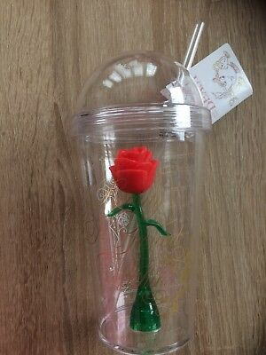 Beauty And The Beast Enchanted Rose Plastic Cup Tumbler