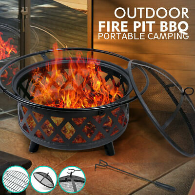 Outdoor Fire Pit BBQ Portable Camping Fireplace Heater Patio Garden Grill