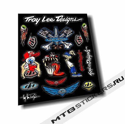 2017 Brand New Custom Troy Lee designs stickers kit decals pack