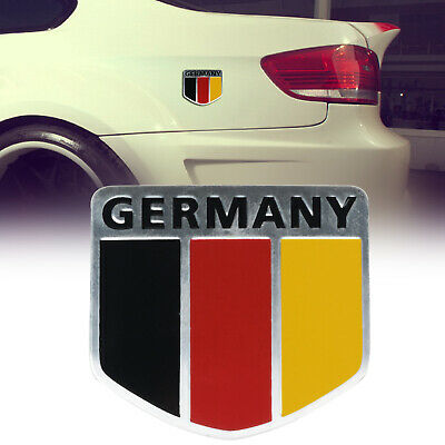 Aluminum German Flag Motor Sport Germany Map Car Emblem Badge Decal Sticker