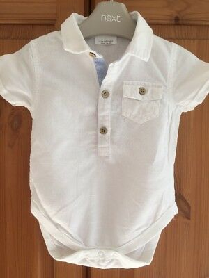 Next Baby Shirt 6-9 Months White