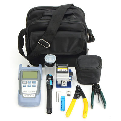 Fiber Optic FTTH Tool Kit FC-6S Cutter Optical Power Meter Fiber Cleaver Visual