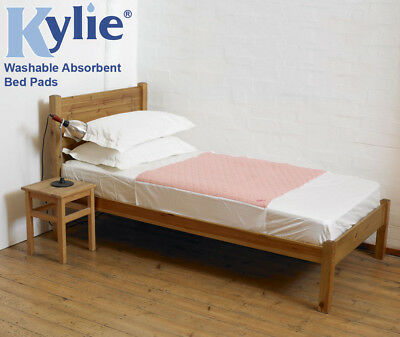 Kylie 1-4 Litre Absorbency Reusable Bed Pads with Wings (Choose Size & Colour)