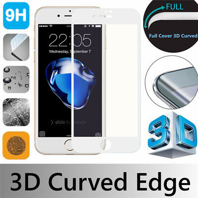 White 3D Full Cover Gorilla Tempered Glass Screen Protector For A pple i Phone