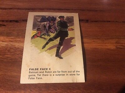 Batman card from Weeties and Rice Krinkles False Face 4