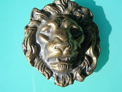 Vintage Lion Head Belt Buckle - Sweet Find!!