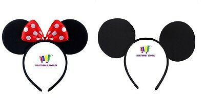 Mickey Or Minnie Mouse Ears Party Fancy Dress Headband Accessory Boys Girls Gift