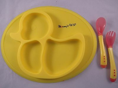 Baby Toddler Food Dish Silicone Placemat Non Slip FDA Approved BPA Free w/FrShip