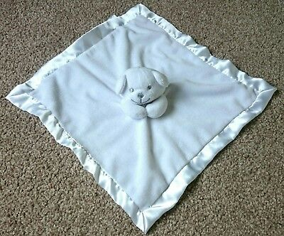 Soft Touch White Bear baby Comforter comfort blanket soft toy polar blankie vgc