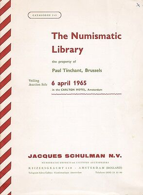 The Numismatic Library of Paul Tinchant, Brussels