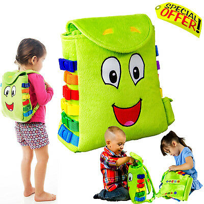 Sensory Buckles Backpack Toys Kids Special Needs Development Motor Skills Play