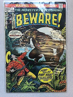 The Monsters Are Coming Beware! #1 1973 Marvel Bronze Age Comic!