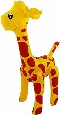 Inflatable Giraffe- 59Cm Tall Blow Up Inflate Party Toy Cute Novelty Decoration