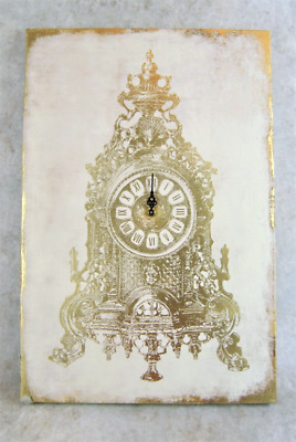Large Wall Clock Baroque Style Wall Clock Canvas with ornate mantle clock pictur
