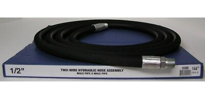 """Royal Brass 1/2"""" X 144"""" Two-Wire Hydraulic Hose Assembly Male Swivel Ends"""