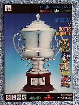 1994 - ANGLO ITALIAN CUP FINAL PROGRAMME - BRESCIA v NOTTS COUNTY