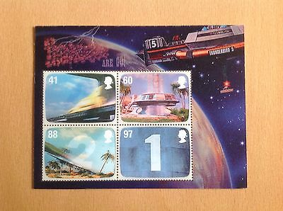 Thunderbirds Gb 2011 Miniature Sheet Stamps Gerry Anderson