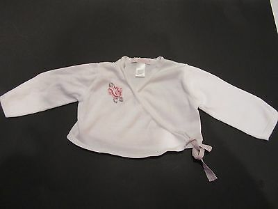 SUPERB Janie And Jack Embroidered Rose Cardigan Wrap Sweater 6-12 Months EUC