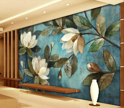 Many Blue Peonies 3D Full Wall Mural Photo Wallpaper Printing Home Kids Decor