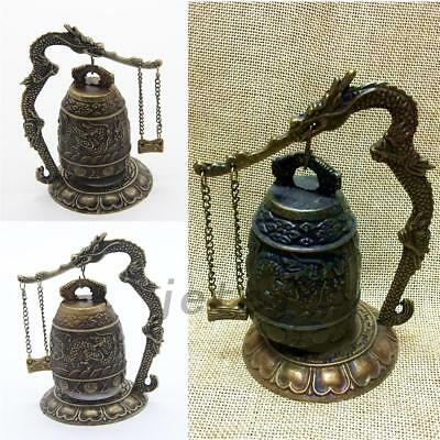 Excellent Design Chinese Dragon Retro Alloy Tibet Carved Dragon Buddha Bell
