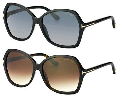 Tom Ford Carola Butterfly Sunglasses w/ Gradient Lens Made In Italy FT0328S