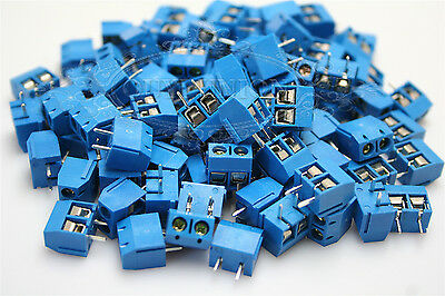 10PCS 2-Pin Plug-in Screw New Terminal Block 5mm Connector Pitch Panel PCB Mount