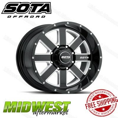 SOTA Offroad AWOL 20x12 8x180 Bolt Pattern -51 Offset 130mm Bore Death Metal Rim