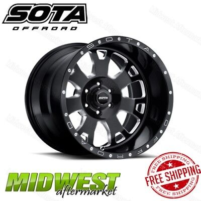 SOTA Offroad Death Metal BRAWL 20x10 6x5.5 Bolt Pattern -25mm Offset 106mm Bore