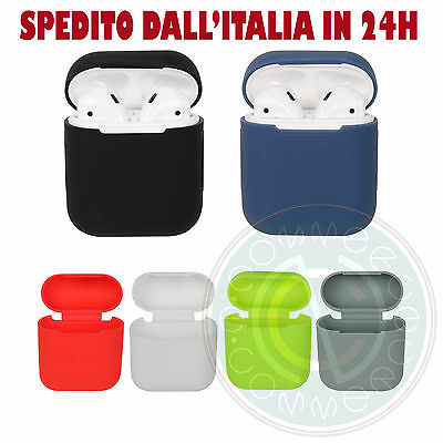 Custodia Protettiva Silicone Gel Airpods Apple Case Guscio Cover Iphone 7