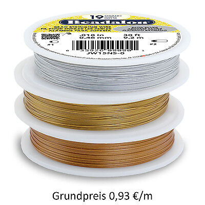Beadalon Schmuckdraht 19 Strang 1000 ft/ 305 m Satin color (Grundpreis 0,98 €/m)