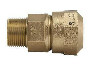 """Ford Fitting Brass 3/4"""" NPT x 1"""" CTS Coupling Adapter Pack Joint C84-34 E24"""