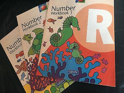 Ginn Abacus Number Workbooks 1, 2 and 3 for Reception