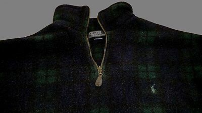 Polo Ralph Lauren Men's ½ Zip Fleece Pullover Size XL, Black Watch Plaid