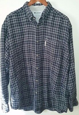 Columbia Men's Flannel L/S Shirt, size XL, Blue/Grey Plaid