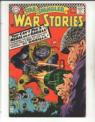 STAR SPANGLED WAR STORIES #126 1966 Classic DC Silver Age Kubert Gorilla Cover