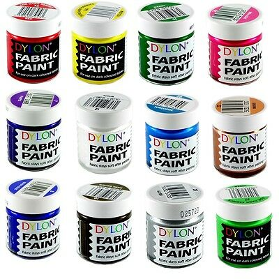 DYLON Fabric Paint - 25ml - Assorted Colours - FREE P&P