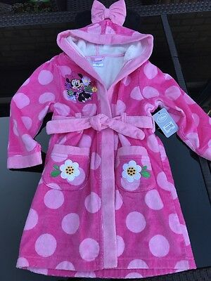 NEW Disney minnie mouse, bath robe 4years