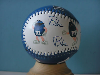 M&M Candy BLUE Baseball Collectible Souvenir Ball MM