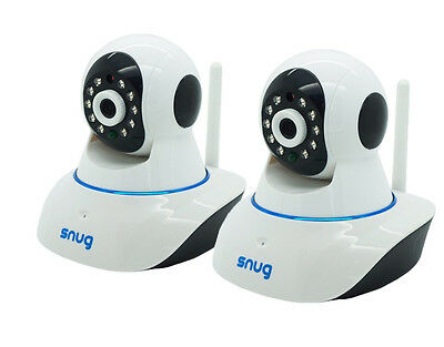 2 Snug WiFi Video Camera Baby Monitors for Apple / Android / iPhone / iPad