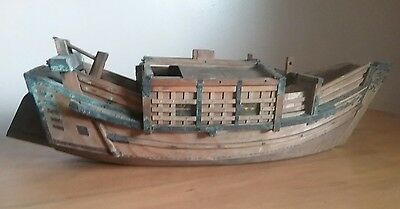 Large Wooden Chinese Junk -  Boat - collectable vintage