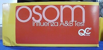 Sekisui Diagnostics Osom 190 Influeza A&B Test Box of 25 NEW